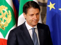Newly appointed Italy Prime Minister Giuseppe Conte arrives to speak with media after the consultation with the Italian President Sergio Mattarella at the Quirinal Palace in Rome
