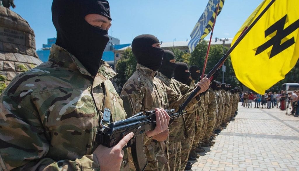 Ukrainian army battalion 'Azov' depart to eastern Ukraine