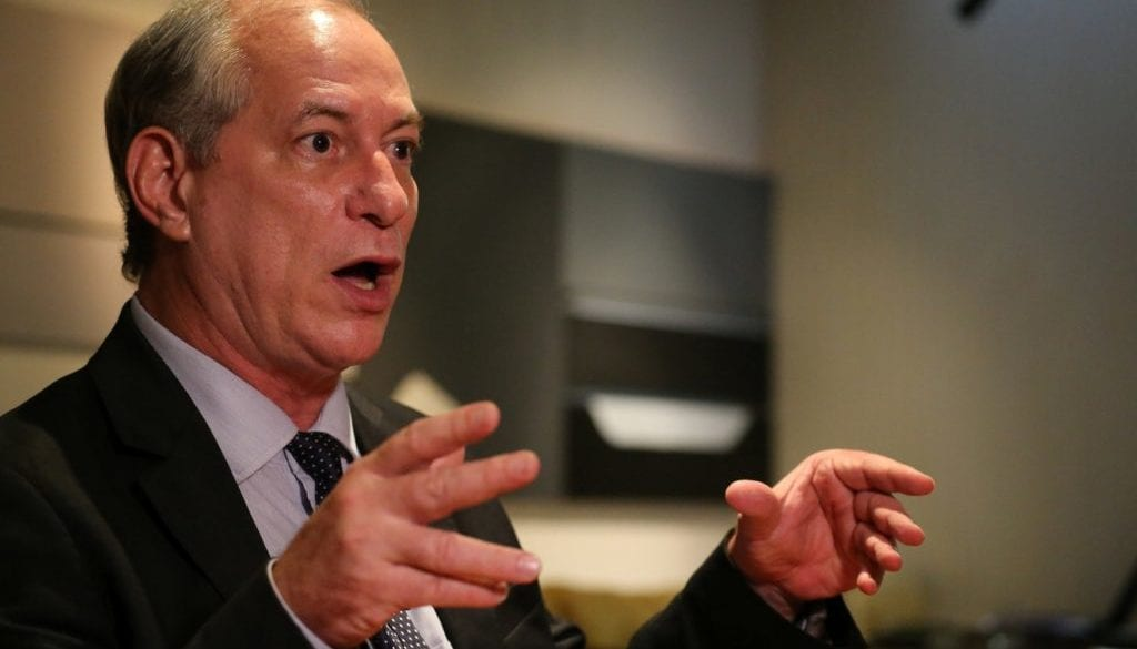 Presidential pre-candidate Ciro Gomes attends an interview with Reuters in Rio de Janeiro