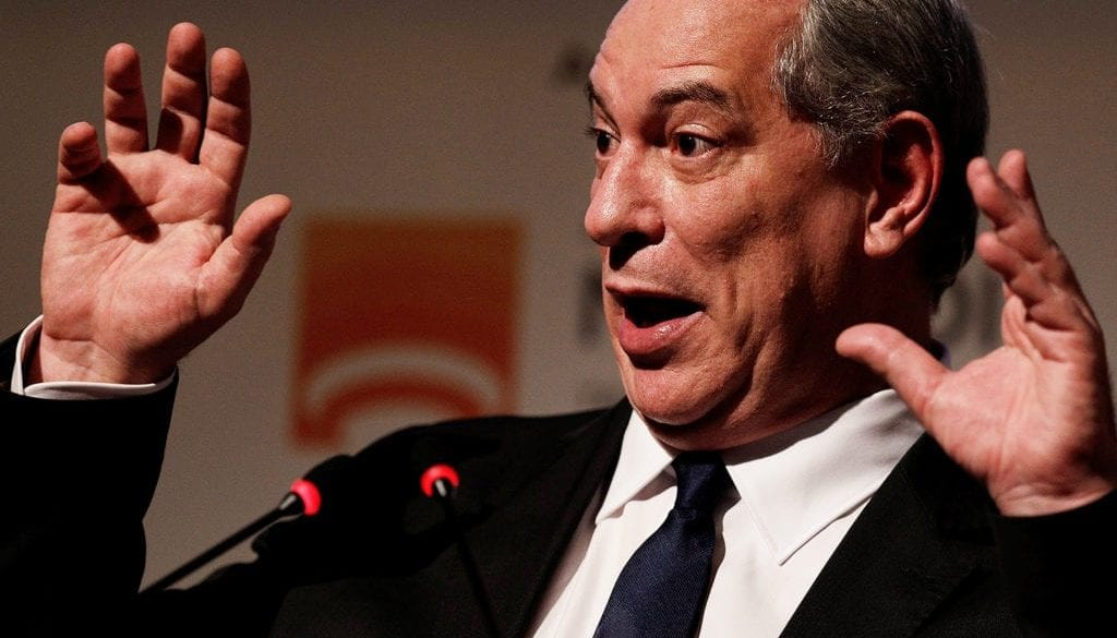 Pre-candidate for Brazil's Presidency Ciro Gomes attends a general meeting of the National Front of Mayors in Niteroi