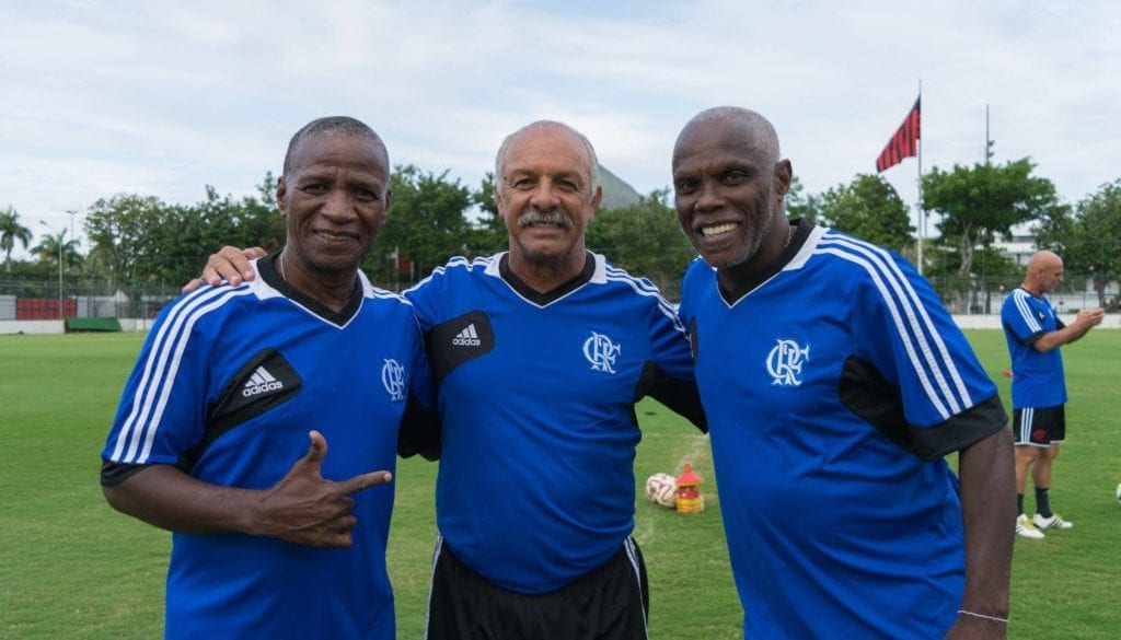 adilio, junior e claudio adão