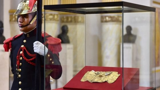 PERU-GERMANY-ARCHAEOLOGY-MASK-LORD OF SICAN