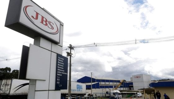 FILE PHOTO - General view of Brazilian meatpacker JBS SA in the city of Lapa