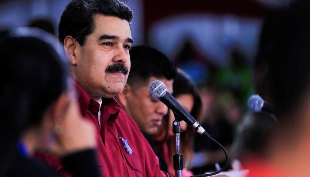 Venezuela's President Nicolas Maduro attends an event with the Youth of the PSUV in Caracas