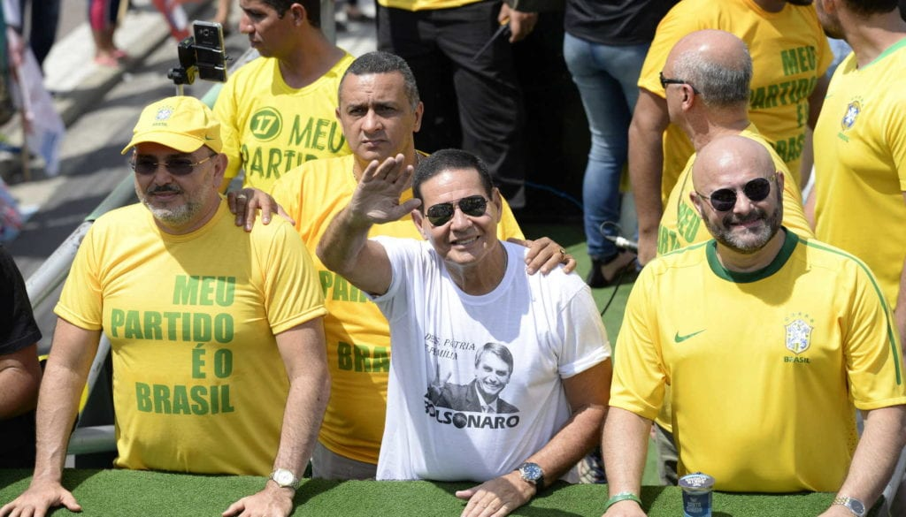 Campaign event of Hamilton Mourao, vice presidential running mate of Bolsonaro in Manaos