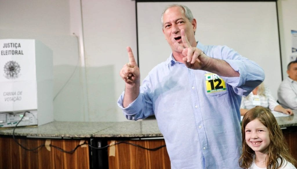 Presidential candidate Ciro Gomes of the Democratic Labour Party (PDT), casts his vote in Fortaleza