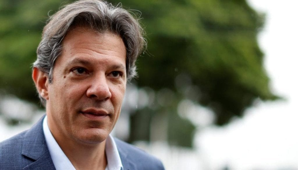 Workers Party vice presidential candidate Fernando Haddad, leaves the Federal Police headquarters, where Brazilian former President Luiz Inacio Lula da Silva is imprisoned, after visiting him, in Curitiba