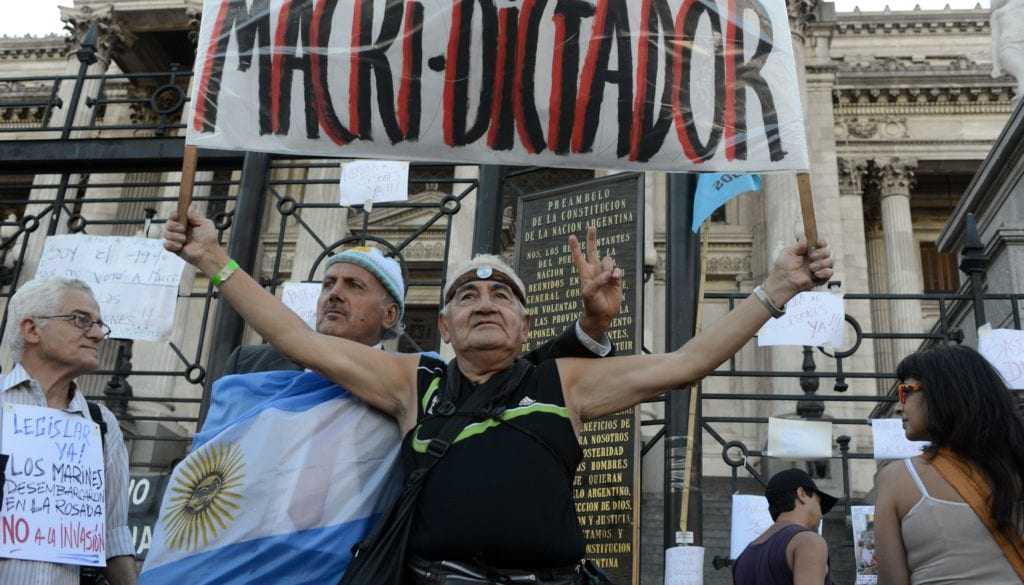 ARGENTINA-GOVERNMENT-PROTEST