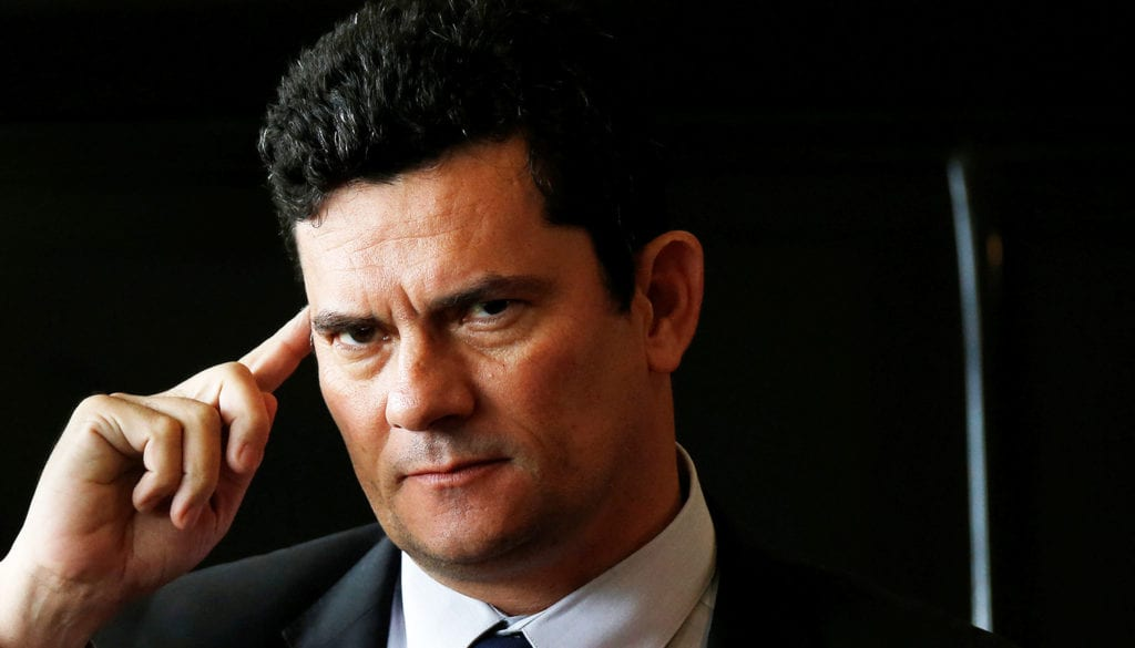 Moro, incoming justice minister, arrives for a meeting with Brazil's President-elect Jair Bolsonaro at the transition government building in Brasilia