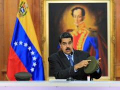 Venezuela's President Nicolas Maduro speaks during a meeting with government officials at the Miraflores Palace in Caracas