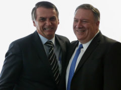 U.S. Secretary of State Pompeo attends meeting with Brazil's President Bolsonaro in Brasilia