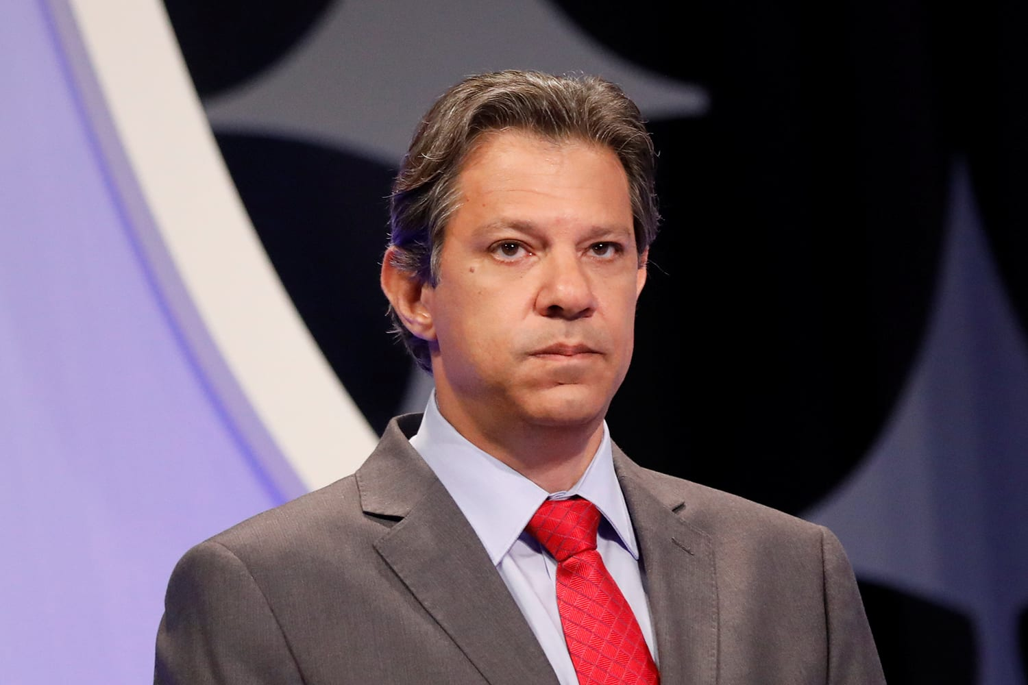 Presidential candidate Fernando Haddad of the Workers Party (PT) attends a televised debate in Sao Paulo