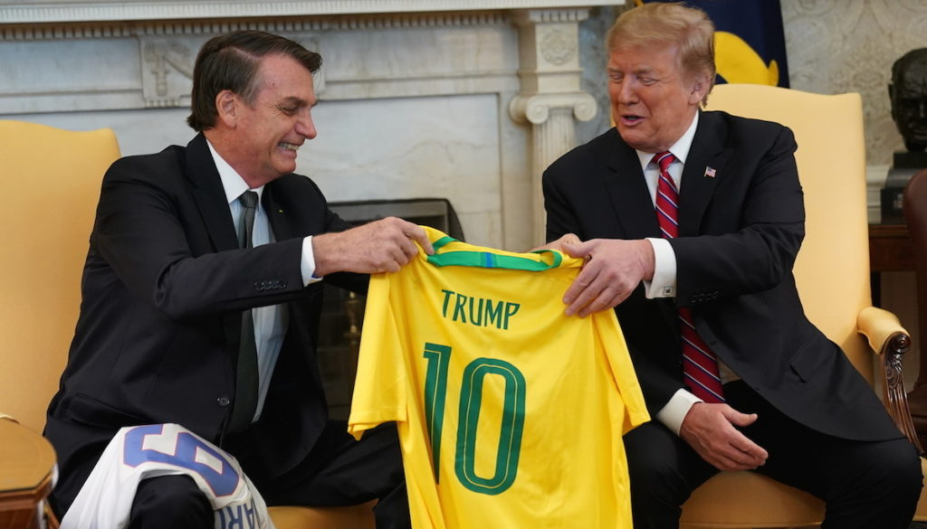 Trump meets with Brazil's Bolsonaro at White House