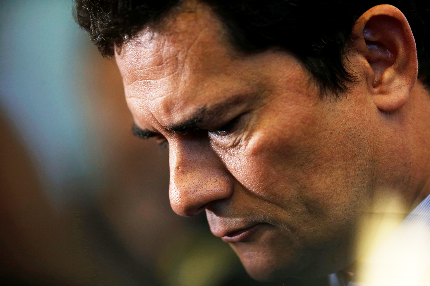 Brazil's Justice Minister Sergio Moro attends a ceremony at the Integrated Center of Command and National Control (CICCN) in Brasilia, Brazil June 14, 2019. REUTERS/Adriano Machado