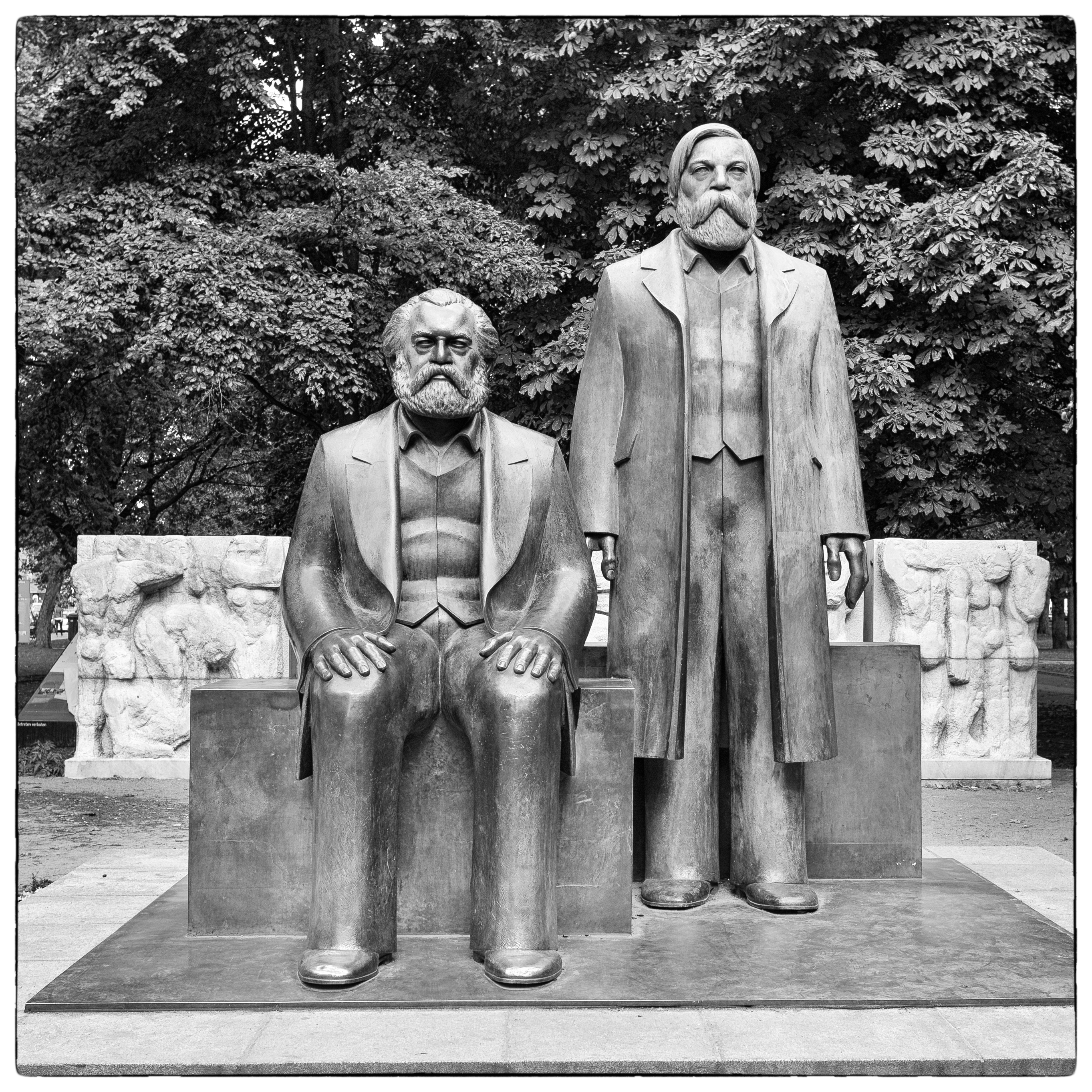 Statue of Marx and Engels - a holdover from old East Berlin.