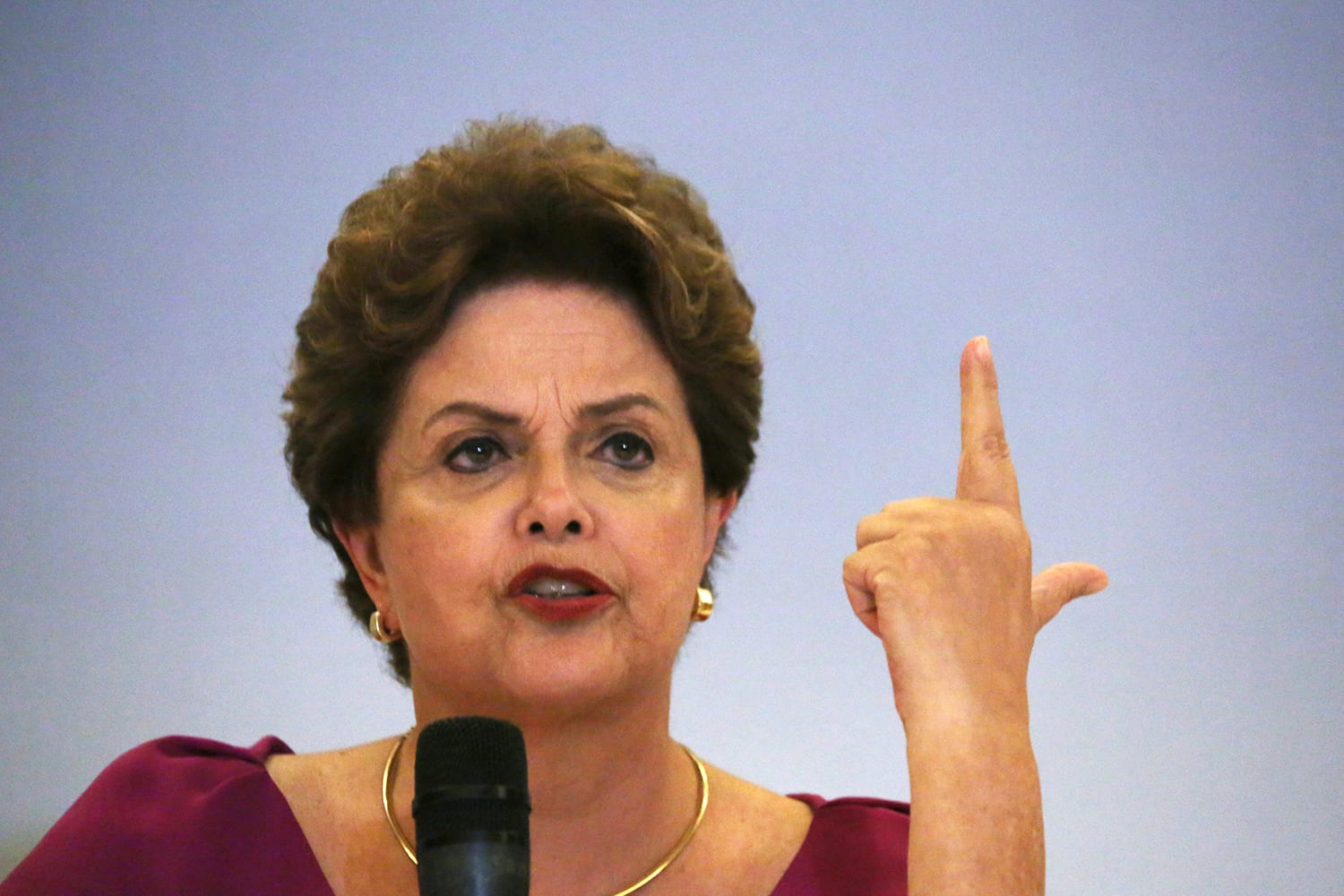 Former Brazilian President Dilma Rousseff speaks during a news conference in Rio de Janeiro, Brazil March 26, 2018. REUTERS/Pilar Olivares