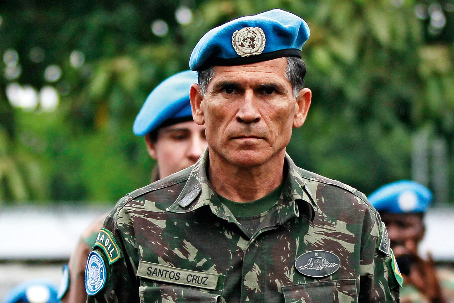 MONUSCO's Force Commander Santos Cruz attends a special parade in the eastern DRC