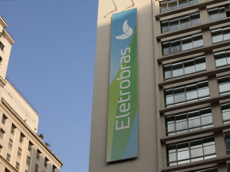 The headquarters building of Centrais Eletricas Brasileiras S.A., the state-owned utility company known as Eletrobras, stands in Rio de Janeiro, Brazil, on Wednesday, July 29, 2015. Eletrobras, which accounts for more than a third of energy generation in Latin Americaís biggest economy, was plunged into the eight-month corruption scandal thatís roiled Brazilís financial markets and government on Tuesday when Federal Police arrested the former head of the utilityís nuclear unit, Eletronuclear. Photographer: Nadia Sussman/Bloomberg