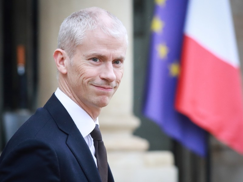 French Culture Minister Franck Riester leaves the Elysee Presidential Palace after a weekly cabinet meeting on March 4, 2020 in Paris. (Photo by Ludovic Marin / AFP)