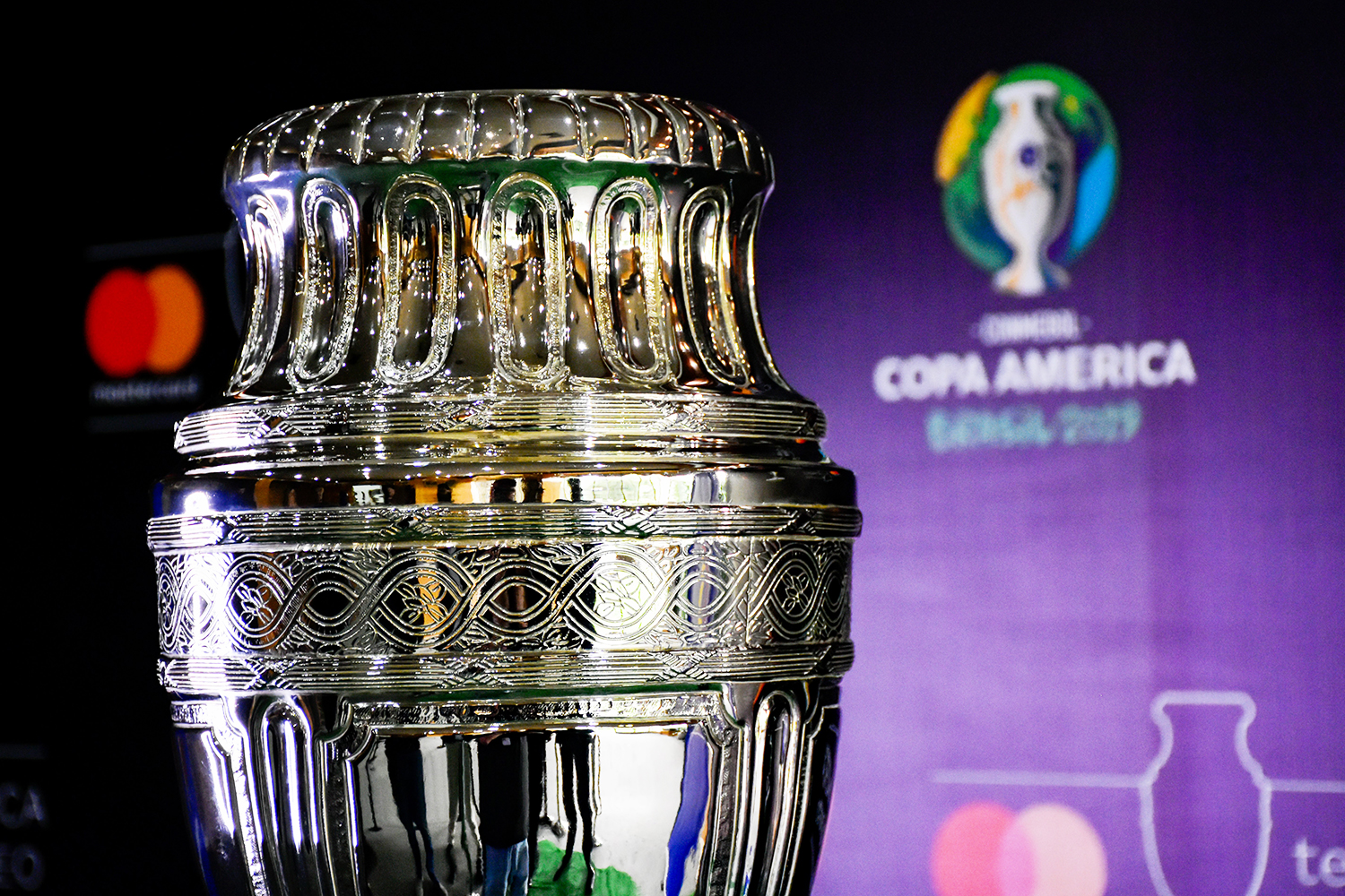 The Copa America trophy in Colombia