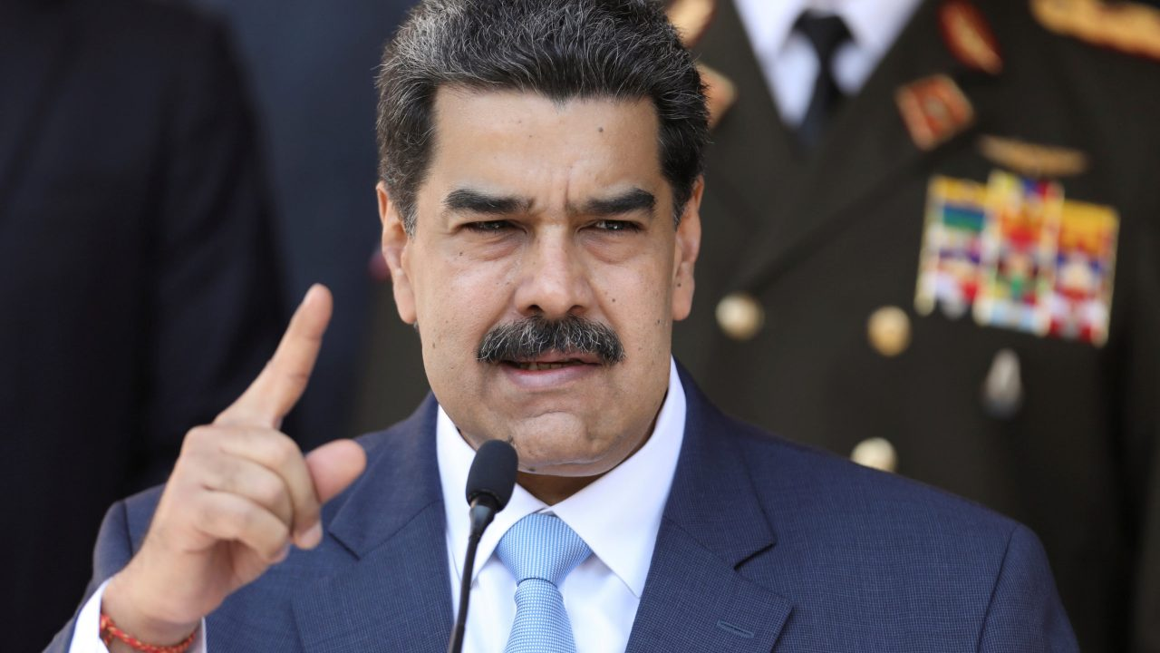 FILE PHOTO: Venezuela's President Nicolas Maduro speaks during a news conference at Miraflores Palace in Caracas, Venezuela, March 12, 2020. REUTERS/Manaure Quintero/File Photo